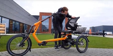 How to adjust the seat on the Easy Rider tricycle
