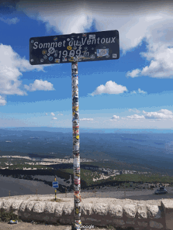 Top of the Mont Ventoux (source: Google Maps)