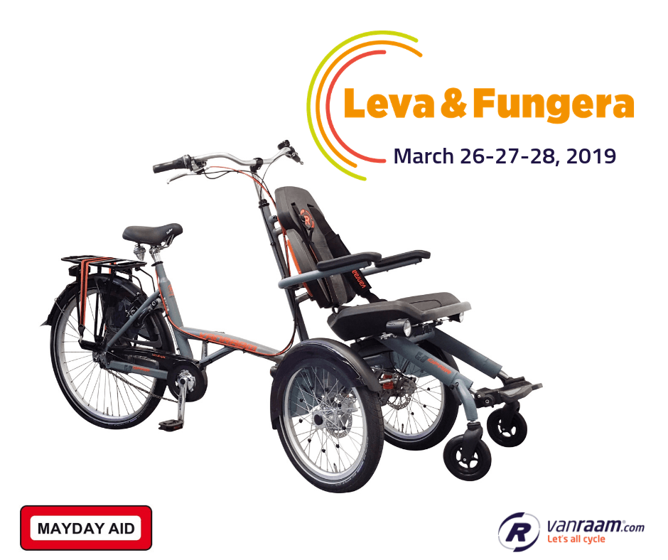 Van Raam special needs bikes at Leva & Fungera fair 2019 in Sweden