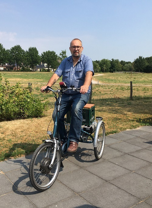 Jan-van-t-Veld-with-his-Maxi-tricycle
