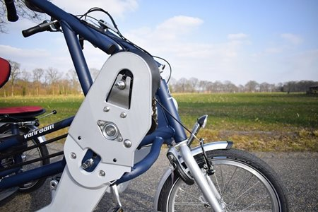 Van Raam Fun2Go duo bike with 3D printed part