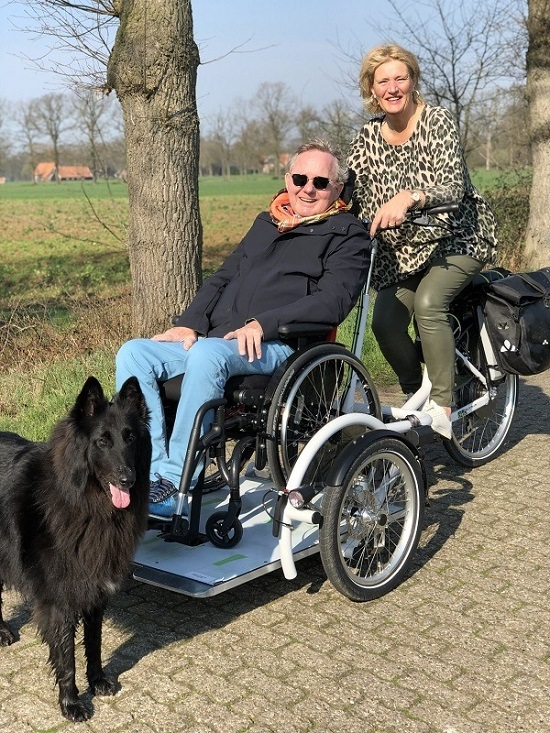 User experience wheelchair transport bike VeloPlus - Joyce and Toon