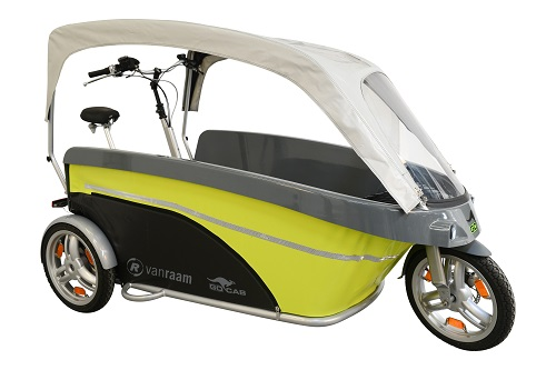 GoCab bicycle taxi for children by Van Raam