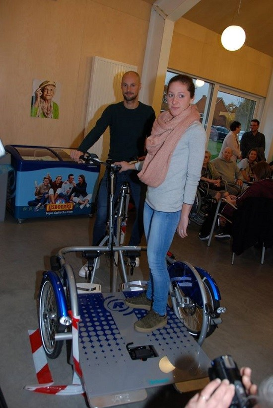 Tom Boonen wheelchair bike Van Raam