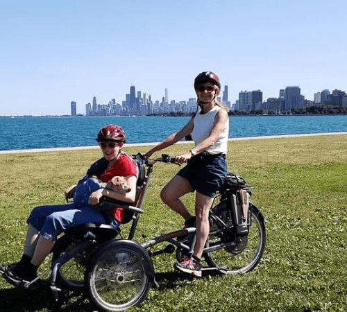 Van Raam OPair wheelchair bike in North America
