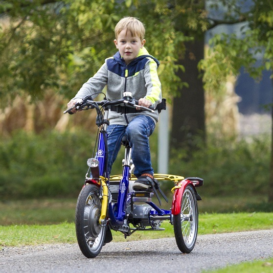 Tricyle children with pedal support