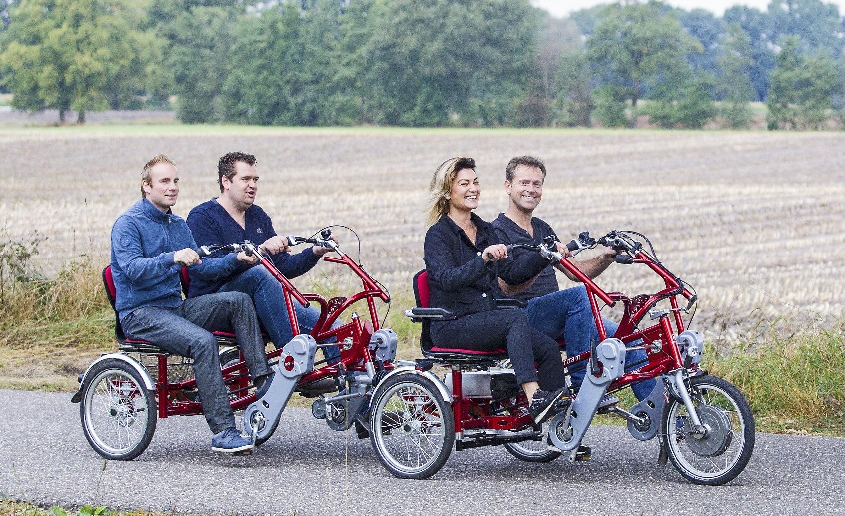 tandem fahrrad paralell fahrrad fahren auf die fun2go von. Black Bedroom Furniture Sets. Home Design Ideas