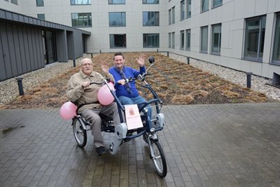 Volunteer residential care facility with Fun2Go duo bike