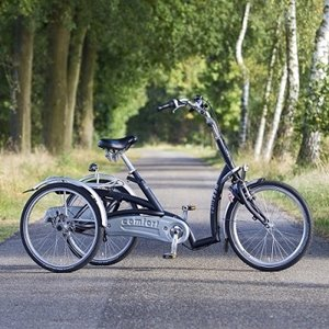 Maxi Comfort trike with a low entry