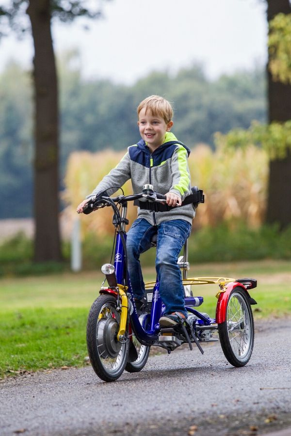 Mini tricycle for children with a disability