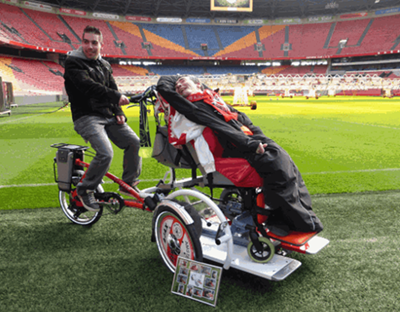 The Ajax wheelchair transport bike