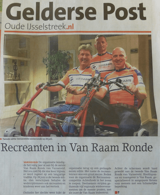 Recreanten in Van Raam Ronde