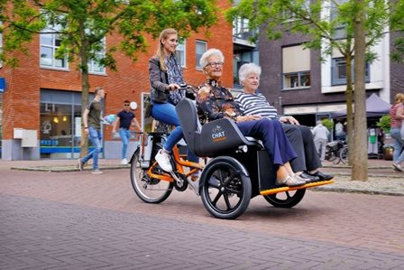 Van Raam Chat rickshaw bike for people with limited mobility