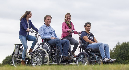 Electric wheelchair bikes by Van Raam
