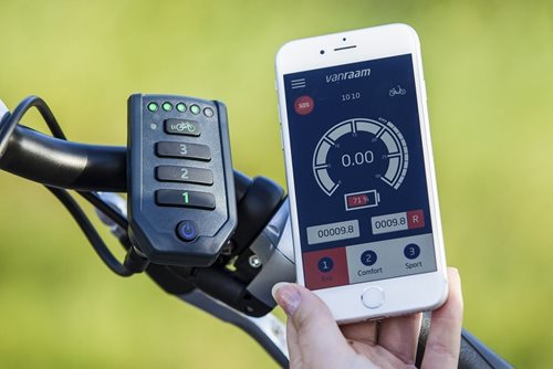 Van Raam E-Bike with app for people with limited mobility