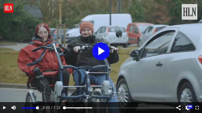 Video wheelchair bike and duo bike for residential care facility in Belgium