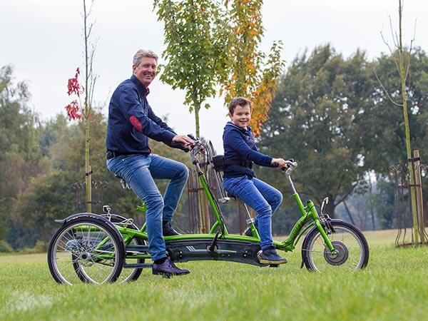 Two person bike Van Raam Kivo Plus tricycle tandem