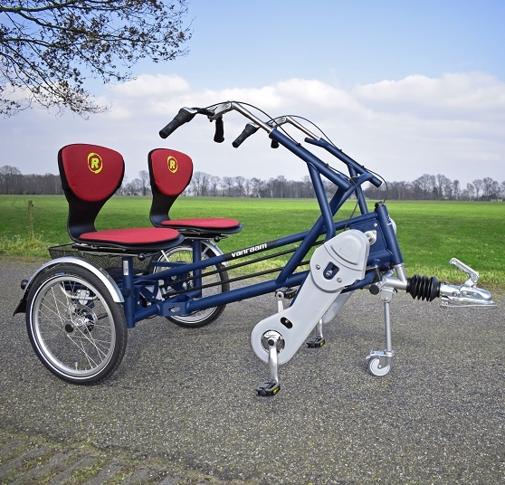 side by side tandem trailer bike