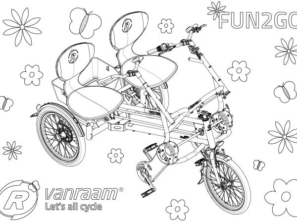 Van Raam Fun2Go colouring page from above