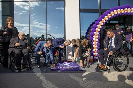 Employees gift festive opening of Van Raam new bicycle factory