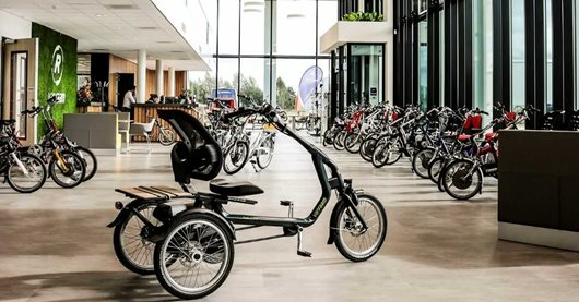 Showroom manufacturer of special needs bikes Van Raam in Varsseveld