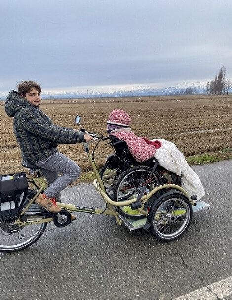 Van Raam VeloPlus electric wheelchair bike Italy