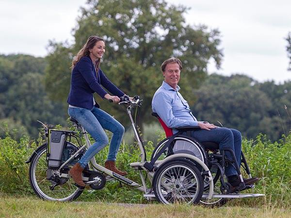 Two person bike Van Raam VeloPlus wheelchair bike