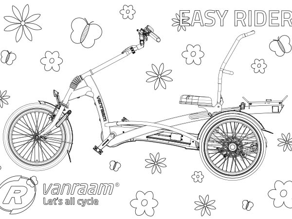Van Raam Easy Rider colouring page