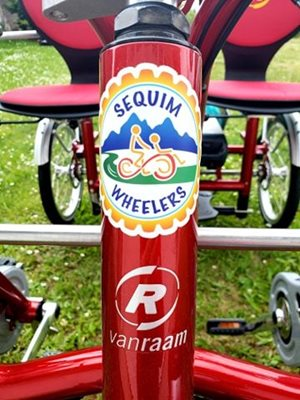 Sequim Wheelers with Van Raam Fun2Go side-by-side tandem