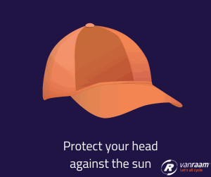 Tips for cycling in the heat - protect your head- Van Raam
