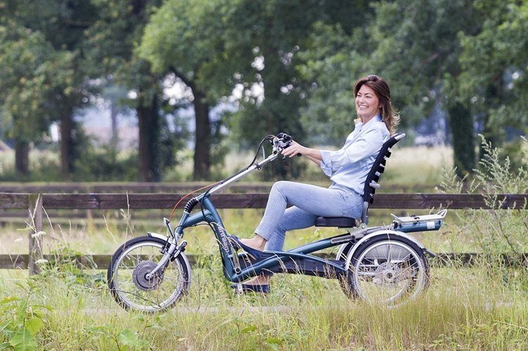 Tricycle with pedal support for adults