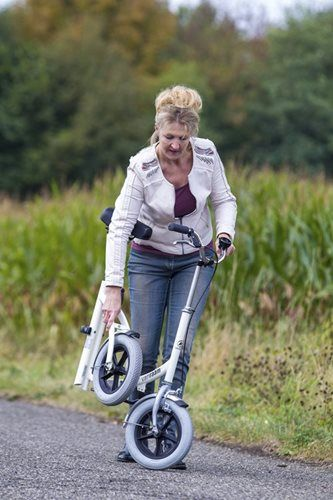 Walker support bike for adults, foldable