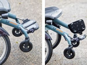 Unique driving characteristics of the wheelchair bicycle OPair foot rests
