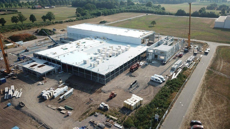 Top view of new Van Raam building
