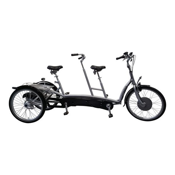 Tricycle tandem Van Raam electric