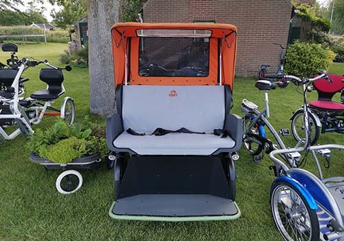 Rental of Van Raam adapted bicycles at De Bever Chat rickshaw bike