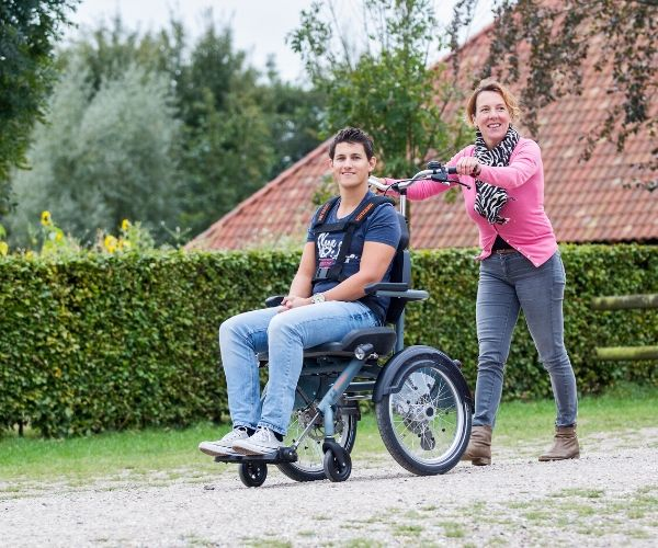 Tricycle wheelchair bike OPair divided