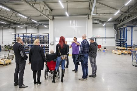 Tour festive opening new bicycle factory Van Raam