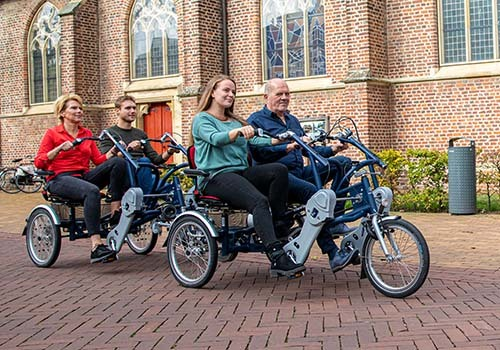 Cycling on a Van Raam special needs bike for multiple persons