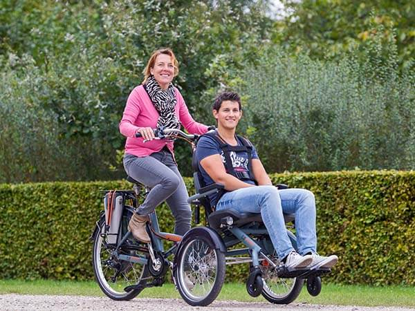 Two person bike Van Raam OPair wheelchair bike