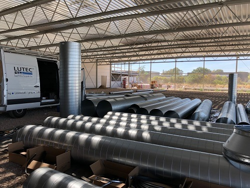 week 32-Lutec makes vertical ventilation system for production hall Van Raam