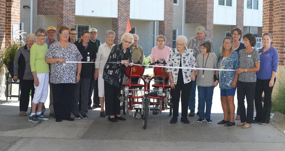 Side-by-side tandem for residents of retirement center