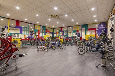 showroom van Raam special needs bikes