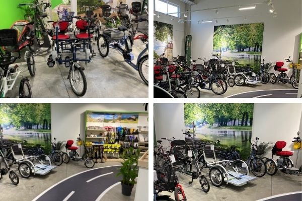 Showroom with Van Raam bikes Dreirad-Zentrum Hanau