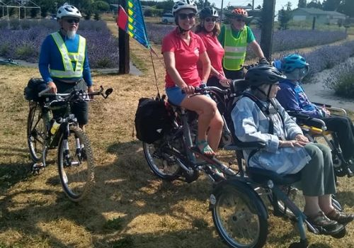 Van Raam OPair wheelchair bike with the Sequim Wheelers