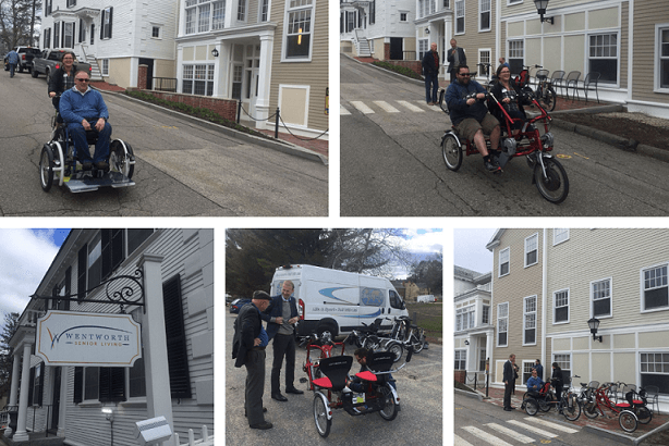 Van Raam special needs bicycles at retirement home