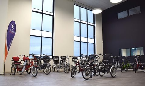 Showroom at Van Raam - Manufacturer of special needs bikes