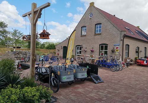 Rental at the Bever of Van Raam adapted bicycles
