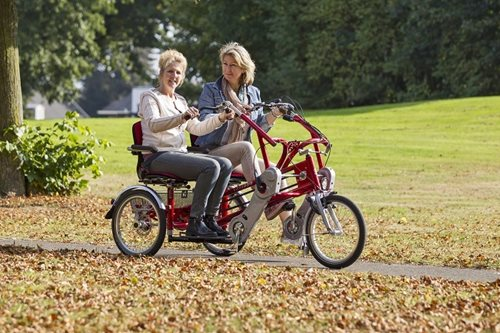 Buddy bike by Van Raam: social multi-person bicycle