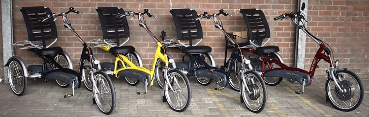 Easy Rider tricycles in special colors